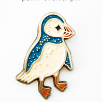 Puffin Enamel Pin - Puffin Lapel Pin by boygirlparty