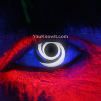 Special FX Contact Lenses | i-Glow White Swirl Contact Lenses (Pair)