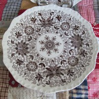 Brown Transferware Plate Collectible Plates Brown Transfer Mason Bow Bells Ironstone Antique Brown and White China Brown Transfer