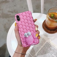 Goyard x Kaws Protective IPhone Case - Pink