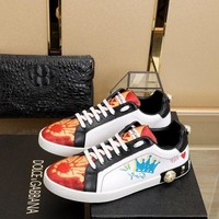 D&G DOLCE & GABBANA Women's Leather Fashion Sneakers Shoes-DCCK