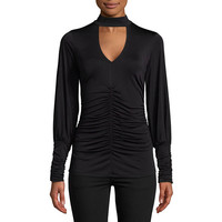 Bisou Bisou Shirred Slinky Top JCPenney