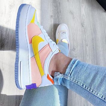 NIKE Air force AF1 shadow men's and women's color-blocking low-top sneakers