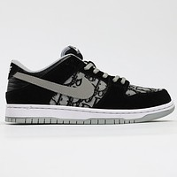 Dior x Nike SB Dunk Low retro leisure sports skateboard shoes