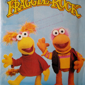 RARE Vintage Butterick 3855 Sewing Pattern Fraggle Rock Stuffed Toys Jim Henson Fraggle Rock Red Fraggle Rock Gobo 21 Inch Plush Toy UNCUT