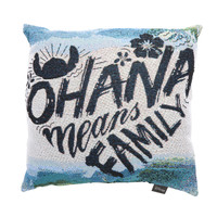 Disney Lilo & Stitch Ohana Means Family Woven Tapestry Pillow
