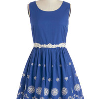 ModCloth Sleeveless A-line Lake in the Day Dress