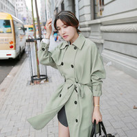 Belted Double Breasted Trench Coat. Korean Fashion.