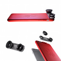 iPhone lens iPhone 6 / 6s Slim Case and 4 lens system fisheye, macro & wide angle lenses