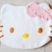 1 X New Unique 75cm Large Cute Hello Kitty Girl Soft Carpet Bedroom Rug 75x60cm