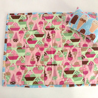 Darling Doll Quilt and Pillow, Ice Cream theme