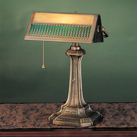 """0-003507>17""""h Gothic 1-Light Mission Bankers Lamp Bronze"""