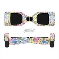 The Vibrant Color Floral Pattern Full-Body Skin Set for the Smart Drifting SuperCharged iiRov HoverBoard