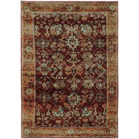 Andorra Red Gold Oriental Rug