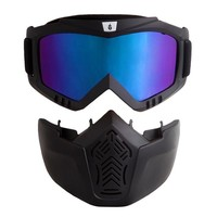 WOSAWE Men Women Windproof Snowboard Goggles Ski Motocross Glasses with Face Mask Removable Dustproof Wind Protention  Gear