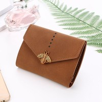Women'S Wallets Solid Hasp Short Wallet Coin Purse Leather Billeteras Mujer Lady Handbag Money Bag Organizer #120