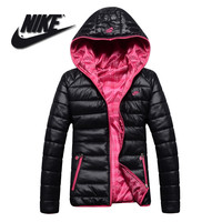 Nike: women's sports leisure cotton-padded clothes