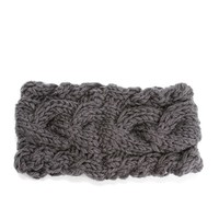 Charcoal Cable Knit Headband