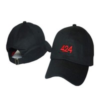 Fashion 424 Embroidered Adjustable Baseball Cap Hat