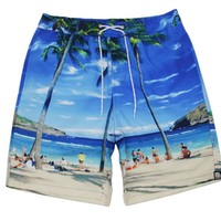 Men's adult beach pants large size quick-drying breathable surf silver quick dry men shorts  swimsuit for beach surf silver