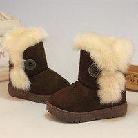 2015 New HOT Children Snow Boots Thicken Winter Children Shoes For Baby Kids Shoes Girls Boots 4 Colour Size 21-35