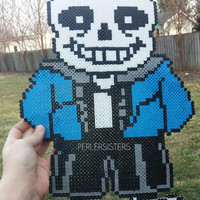 Colored Sans from Undertale Perler Bead Character