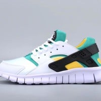 NIKEFree Running Huarache Running Sport Casual Shoes Sneakers White Green I-CSXY Tagre™