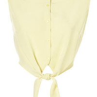 **Tie Front Cropped Shirt by Oh My Love - Brands at Topshop - Tops  - Clothing