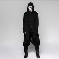 Punk Rave Men's Steampunk Irregular Hooded Long Coat Y751 135951