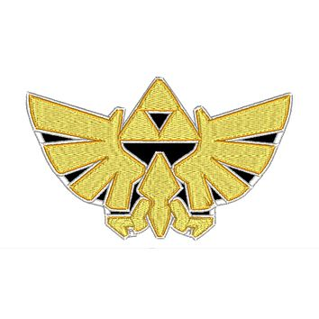 "Patch Craft - Zelda Hyrule - (5.2"" x 3.3"" Applique Patch Iron On)"
