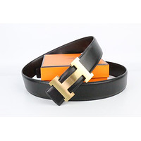 Hermes belt men's and women's casual casual style H letter fashion belt471