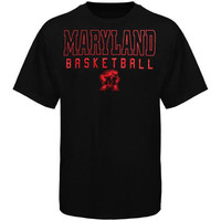 Maryland Terrapins Frame Basketball T-Shirt - Black