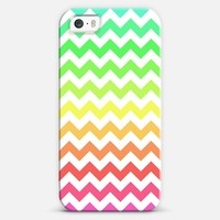 Colorful Ombre Chevron iPhone 5s case by Organic Saturation | Casetagram