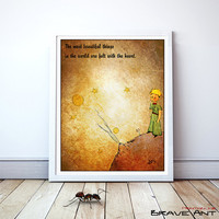 Little Prince, The Little Prince, Le Petit Prince, Quote Print, Printables, wall decor, Quote poster, nursery, Instant Download