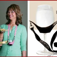 """WineYoke"" Party Time Hand Free Wine Glass Holder Necklace - Set of 2 (PINK & BLACK)"