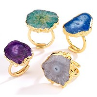 Agate Stone Rings