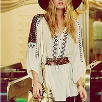 Free People  Love Lost Embroidered Tunic  at Free People Clothing Boutique