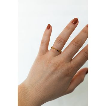 18K Dainty Wave Ring