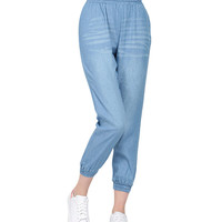 Cropped Pants in Denim