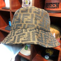 Fendi Fashion New More Letter Women Men Sunscreen Travel Cap Fisherman Hat