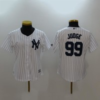 Women's MLB  Buttons Baseball Jersey  HY-17N11Y33D