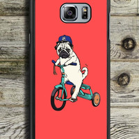 Funny Pug Riding Samsung Galaxy Note 5 Case