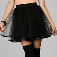 Promo- Black Dance Party Tulle Skirt