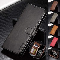 Leather Case for Samsung Galaxy S20 Ultra Plus A71 A51 A41 Note 20 10 Plus A70 A50 A20 A20e S9 S8 Plus S7 Edge Wallet Flip Cover