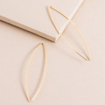 14k Arc Threader Earrings
