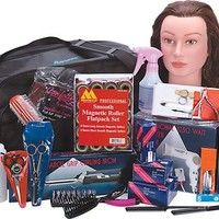 Soft Side Beauty School Kit With Hairdryer