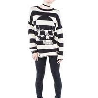 "Women's ""Urban Decay"" Stripe Sweater by Iron Fist (Black/White)"