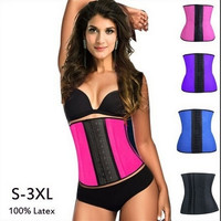 sport latex waist cinchers trainer hot shaper fast weight loss slimming belt = 1930157252