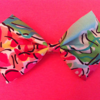 Lilly Pulitzer Inspired Hair Bow