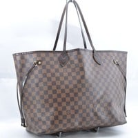 Authentic Louis Vuitton Damier Neverfull GM Tote Bag N51106 LV 36746
